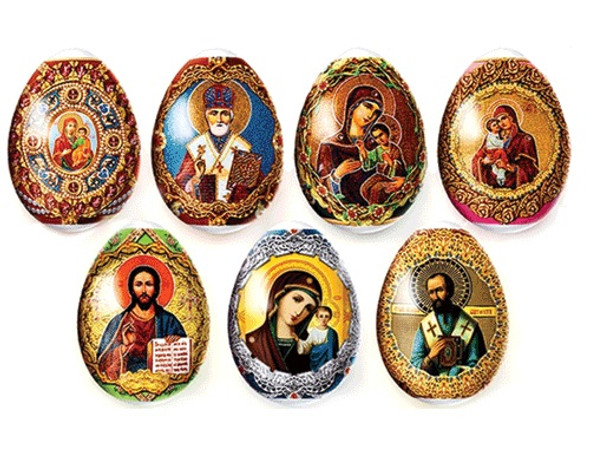 Egg Wraps with Icon Designs, 7-pack