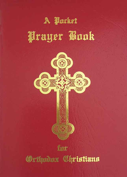 A Pocket Prayer Book for Orthodox Christians with a Red Vinyl Cover