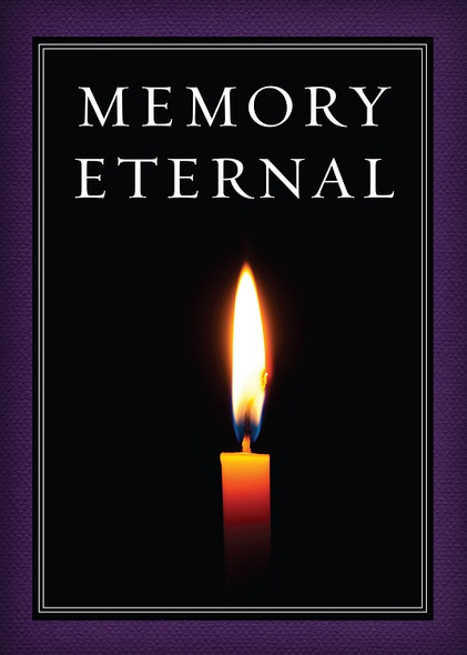 Memory Eternal (candle on black background), pack of 10 cards