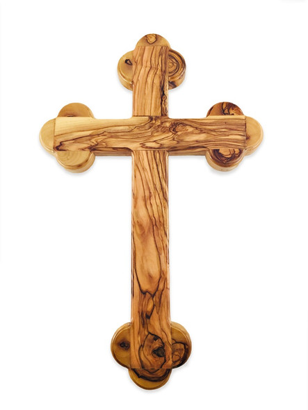 Olive Wood Wall Cross from Bethlehem, 8-1/2 inch