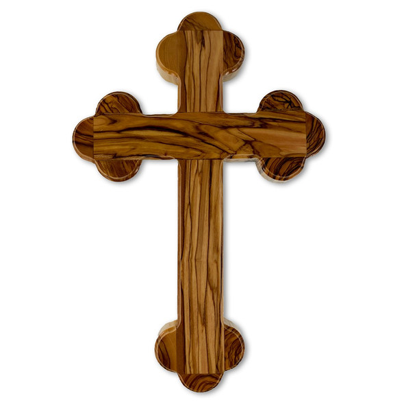 Olive Wood Wall Cross from Bethlehem, 9 inch