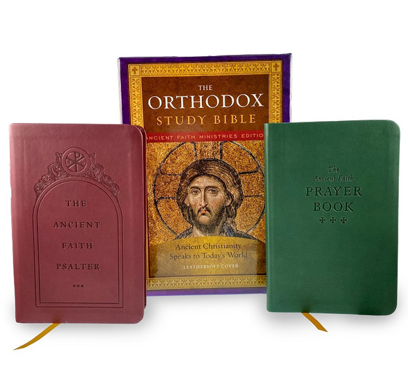 Deluxe Gift Set: Orthodox Study Bible / Ancient Faith Psalter / Ancient Faith Prayer Book