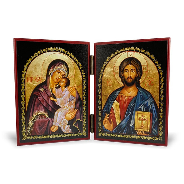 Diptych: Christ the Teacher and the Mother of God, medium icons