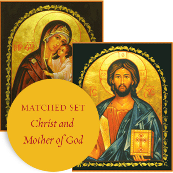 Matching set: Christ the Teacher & Mother of God Lovingkindness, large icons