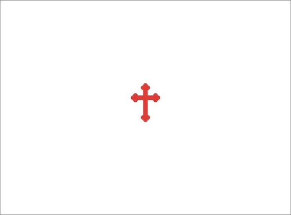 "Budded Cross, pack of 10 blank note cards. Perfect for invitations or as a ""Thank You"" card."