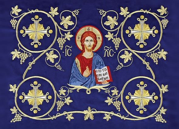 Embroidered Icon of Christ, pack of 10 blank note cards