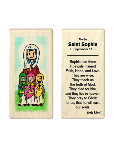 Little Saints Saint Sophia with Faith, Hope, and Love Individual Block