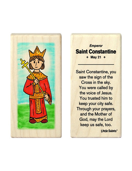 Little Saints Saint Constantine Individual Block