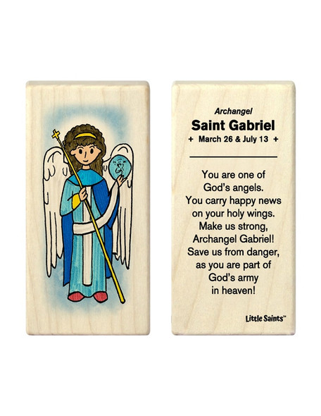 Little Saints Saint Gabriel the Archangel Individual Block