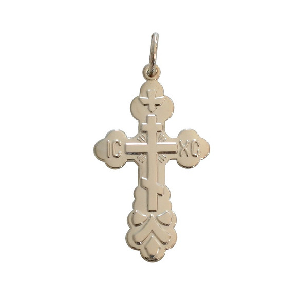 St. Xenia Cross, sterling silver
