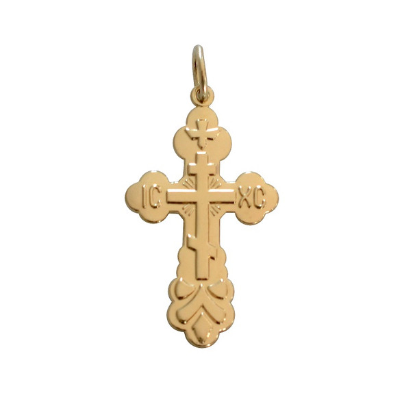 St. Xenia Cross, 14k yellow gold