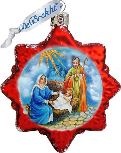 Ornament, Nativity Scene Star, red