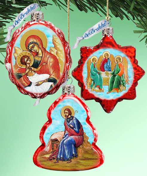 Ornament, 3-piece set in a gift box, Christmas Ornaments