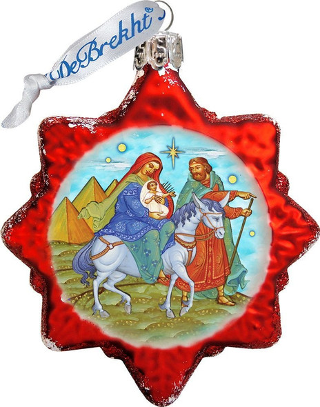 Ornament, Flight to Egypt star, red