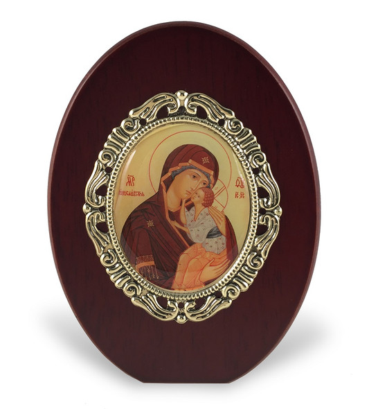 Virgin and Child standing icon