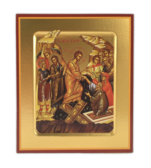 The Resurrection, small free-standing icon