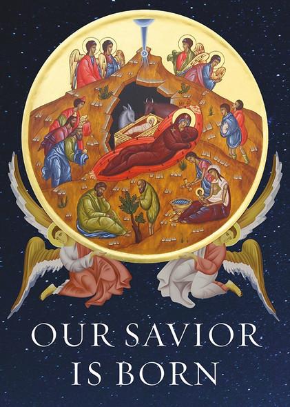 Our Savior is Born, individual Christmas card