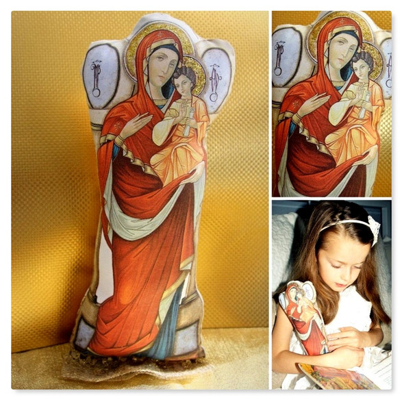 Soft Doll, Most Holy Theotokos collage