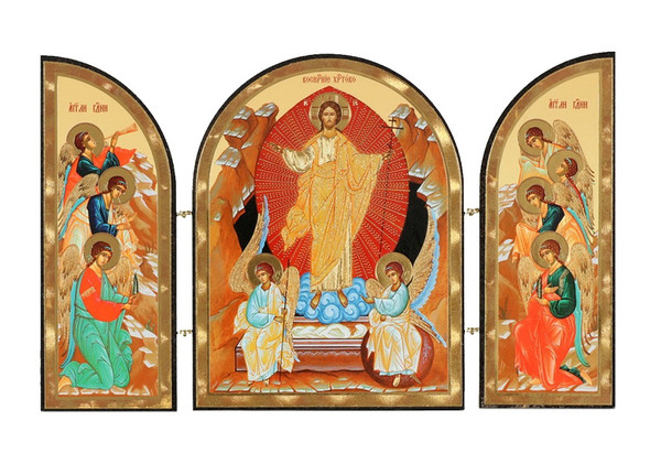 Triptych: Resurrection, medium icons
