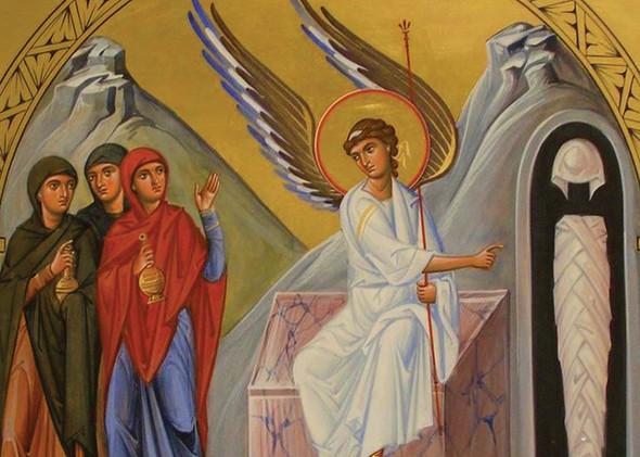Myrrhbearing Women, individual card