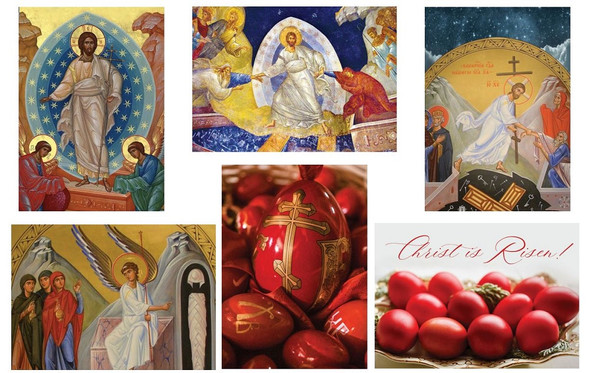 Mixed Pack of 2020 Pascha/Easter Cards, pack of 10 cards