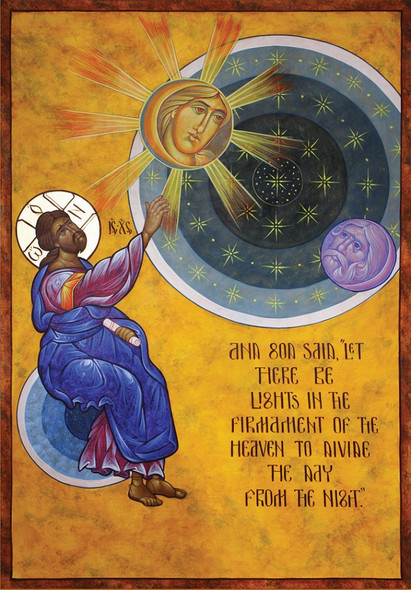 Creation of Heavenly Bodies, large icon
