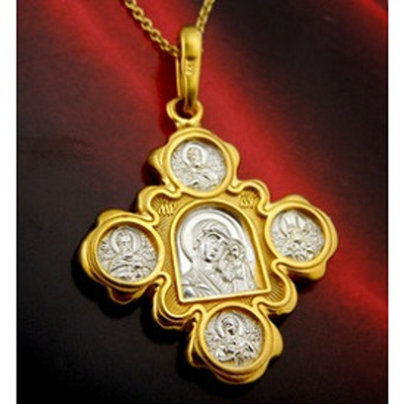 003404 Pendant, Kazan MOG and Christ, two-sided