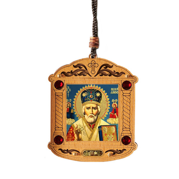 Ornament, Saint Nicholas with incense
