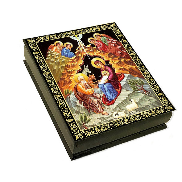 Wooden Icon Box, Nativity, large