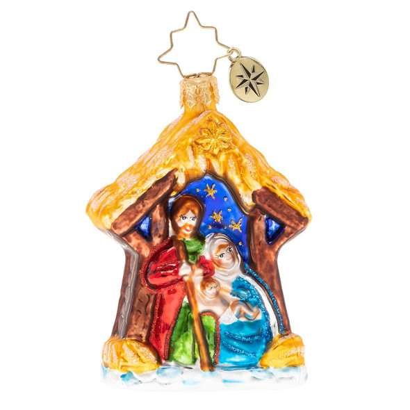 Ornament, Christopher Radko, Asleep in the Manger Christmas Ornament