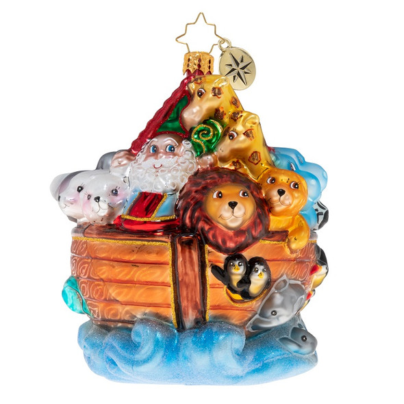 Ornament, Christopher Radko, Noah's Ark front