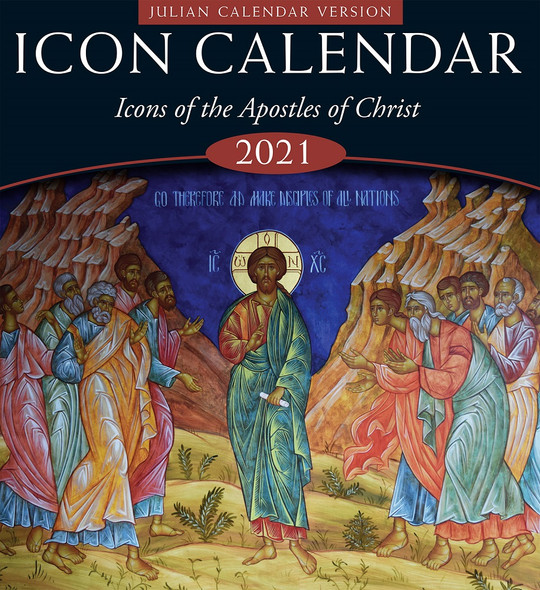 2021 Icon Calendar, Icons of the Apostles of Christ (Julian version, old calendar)