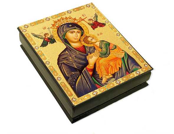 Wooden Icon Box, Perpetual Help, large