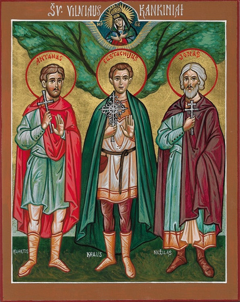 Three Holy Martyrs of Vilnius, large icon