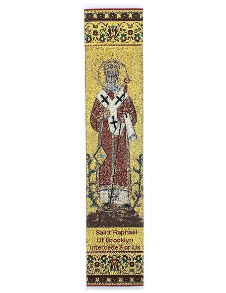 Tapestry bookmark, Saint Raphael