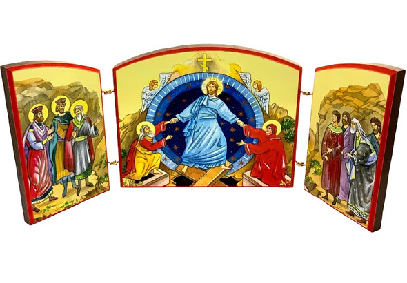 Triptych: Resurrection with Troparion