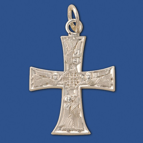 007195 Angel Cross, sterling silver, large
