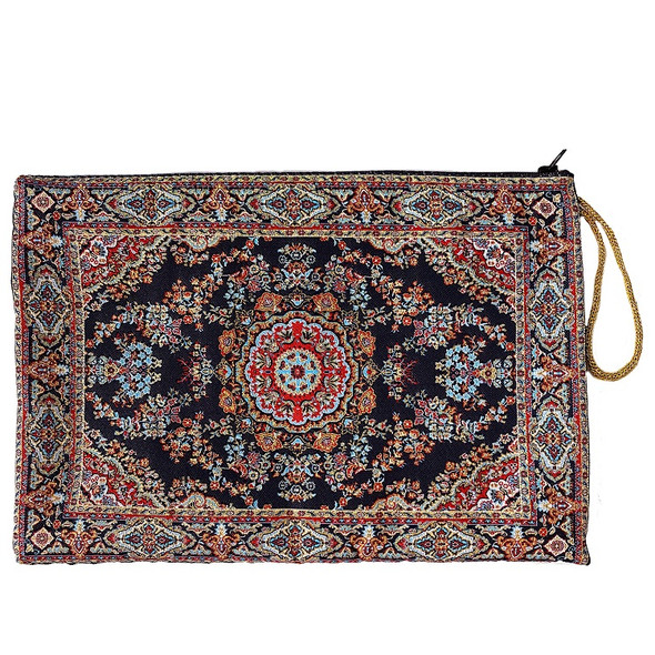 Tapestry cover, multi-color woven design
