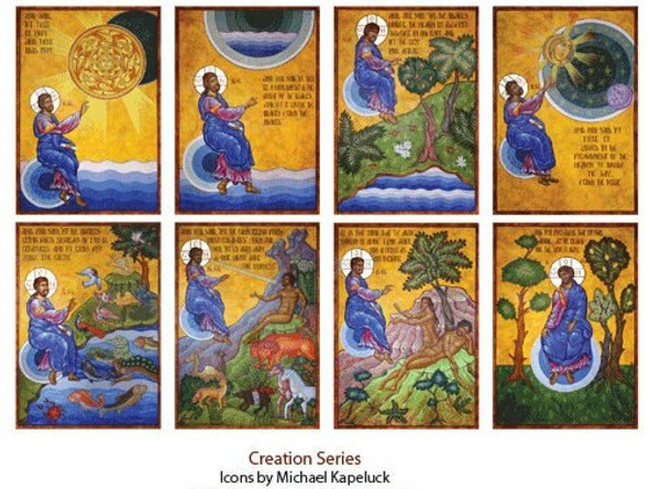 Creation Series, set of 8 medium icons