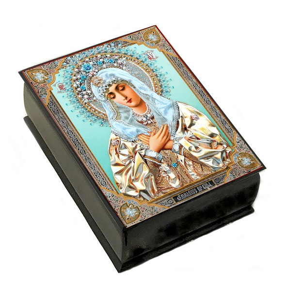 Wooden Icon Box, Humility of Virgin Mary, small