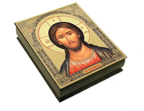 Wooden Icon Box, Christ, large