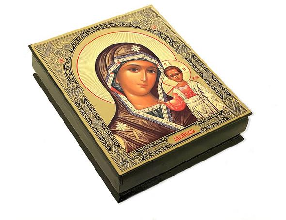 Wooden Icon Box, Virgin of Kazan, large