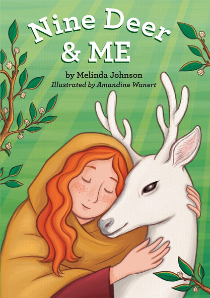 Nine Deer and Me (board book) by Melinda Johnson, illustrated by Amandine Wanert