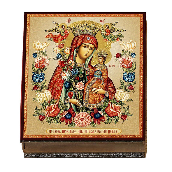 Wooden Icon Box, Unfading Bloom, large