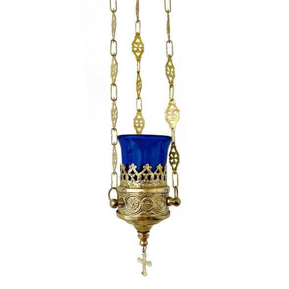 Vigil lamp, 3 inch diameter, blue well
