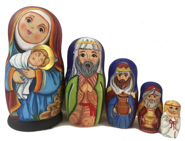Icon Nesting Dolls, 5pc Precious Nativity