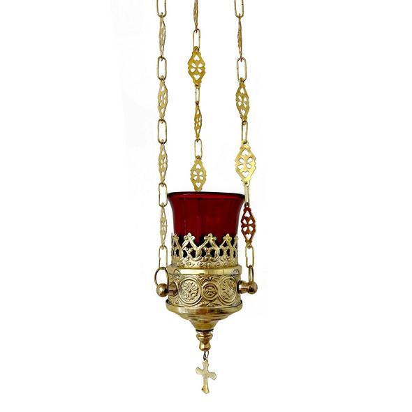 Vigil lamp, 3 inch diameter, red well