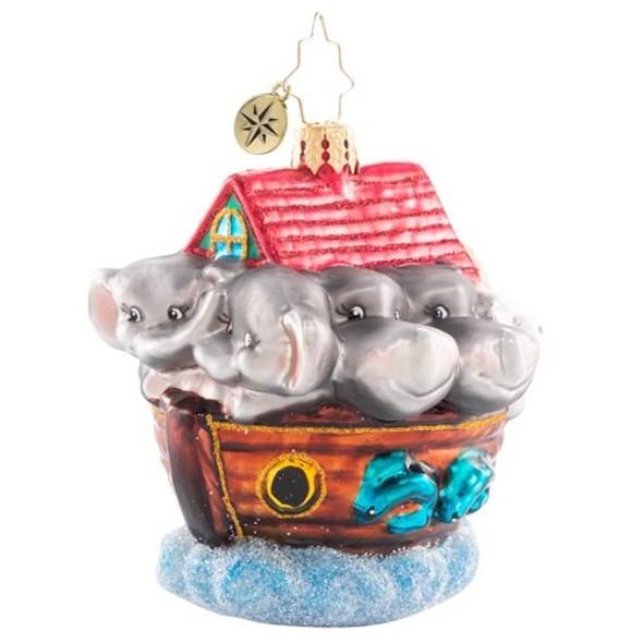 Ornament, Christopher Radko, Noah's Ark Gem Christmas Ornament