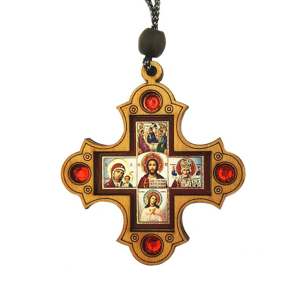 Cross Ornament, Christ with surrounding icons