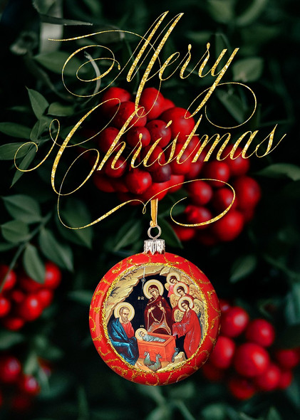 Merry Christmas (2021), pack of 15 Christmas cards